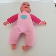 Puha törzsű kék szemű karakteres szempillás csecsemő baba