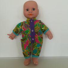 Cititoy interaktív puha törzsű csecsemő baba tarka rugiban
