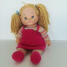 Simba Dolly rongybaba szőke hajjal pink ruhácskában