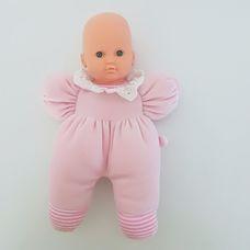 You&Me első babám rózsaszín rugdalózós puha rongybaba
