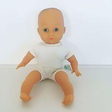 ELC textil törzsű alvós baba ruha nélkül