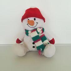 Cuddle Crew plüss hóember figura sállal és sapkával