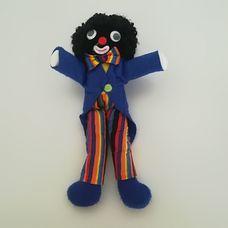 Golliwog kék frakkos csíkos nadrágos néger figura