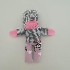 Rózsaszín csíkos zokni nyunya figura