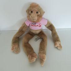 Tépőzáras tenyerű talpú plüss gibraltári majom