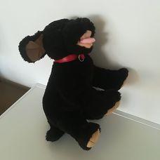 Build a bear fekete plüss kutya piros nyakörvvel