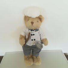 Teddy Bear Friends plüss séf maci szakácsruhában