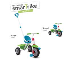 SmarTrike Fun Plus tricikli szülőkarral, napellenzővel