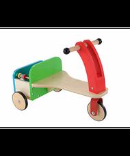 ELC Wooden trike lábbal hajtós fa tricikli csomagtartóval