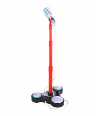 ELC mikrofon állítható magasságú piros állvánnyal
