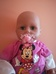 Zapf Baby Annabell interaktív csecsemő baba Minnie ruhában