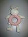 Puha bébijáték nyuszi figurával