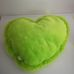 Szív alakú zöld békás puha plüss párna