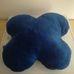 Pillangó formájú hatalmas kék plüss párna