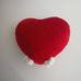 Szív alakú macikás puha plüss párna