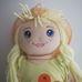 Simba Dolly farmerszoknyás szőke hajú rongybaba
