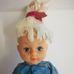 Rainbow Brite baba irizáló kék ruhában