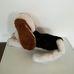 Basset Hound hason fekvő plüss kutya pakolható pocakkal