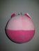 Rózsaszín cica figurás plüss csörgő bébilabda