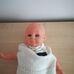 Simba puha törzsű kék szemű baba retro ruhában