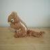 Világosbarna csíkos plüss mókus