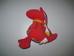 Jelly Kitten piros sárkány plüss bébijáték