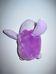 Lila színű csillámos mini plüss kispingvin