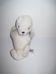 RUSS fehér mini plüss fóka bébi csokornyakkendővel