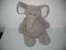 Cuki szürke elefántos puha plüss hátizsák