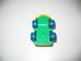 Jackpot színes műanyag játék mozdony