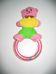 Csörgő karika színes puha plüss macival