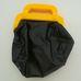 Fekete műbőr orvosi táska sárga fogantyúval