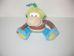 Happy Horse Monkey Mo színes csíkos plüss majom bébijáték