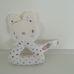 Puha plüss bébicsörgő kék csillagos cica figurával