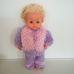 Teeny Weeny Tiny Tears retro baba lila kötött ruhában