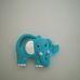 Kék elefántos babatükör és sárga majmos zenélő bébijáték