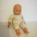 Zapf puha törzsű csecsemő baba farmerruhában