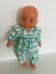 Hauck alvós csecsemő baba zöld kockás galléros ruhában