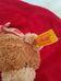 Steiff macikás piros fehér puha plüss szundikendő