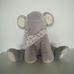 Marks & Spencer csörgő plüss elefánt kendővel