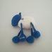 H&M Woolly fehér kék csörgős plüss bárány
