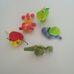5 darabos színes állatkás csörgő bébijáték szett