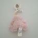 Bruin Snuggle Chums felcsíptethető rózsaszín plüss maci