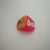 Puha textil színes háztető formájú babakocka