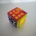 Puha textil színes csörgős babakocka számokkal és betűkkel