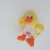 Interaktív hápogó sárga plüss kiskacsa