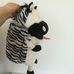 Tömzsák zebra plüss állat tömhető pocakkal
