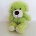 Csillogó világoszöld hosszú szőrű plüss kutya