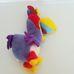 Színes plüss kakadu madár figura