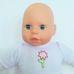 Dimian puha törzsű kék szemű alvós csecsemő baba játékával
